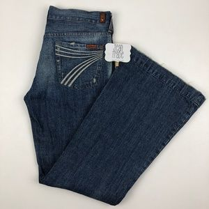 7 for all mankind dojo flare jeans 31x33